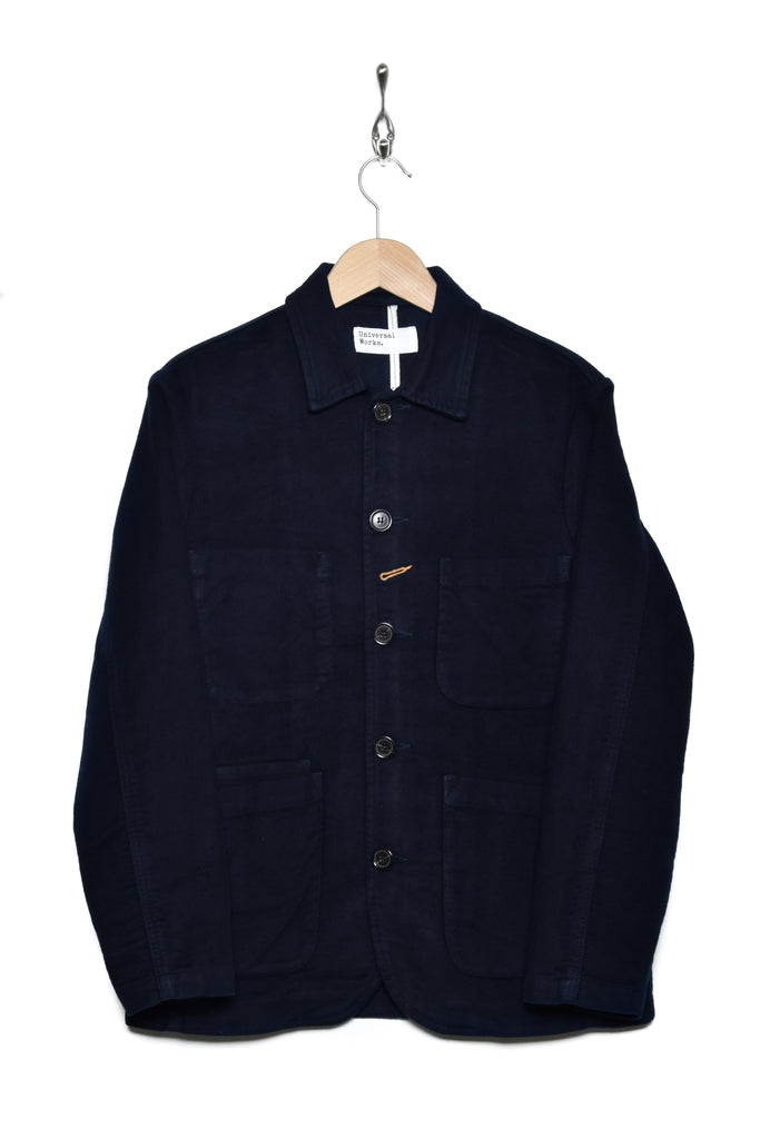 Universal Works 21545 moleskin bakers jacket navy