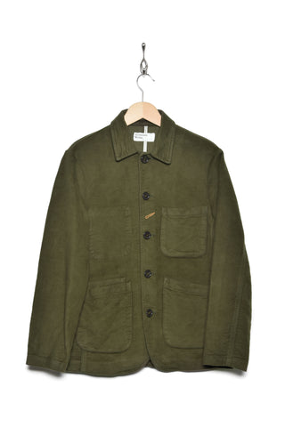 Universal Works 21545 moleskin bakers jacket moss