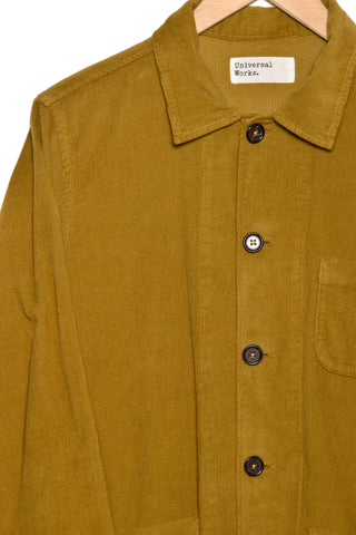 Universal Works 21663 fine cord bakers overshirt mustard