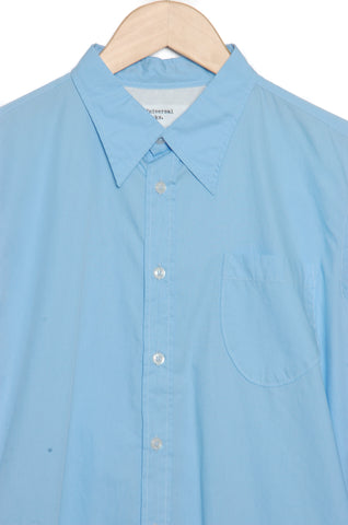 Universal Works 20672 Poplin Brook Shirt sky blue