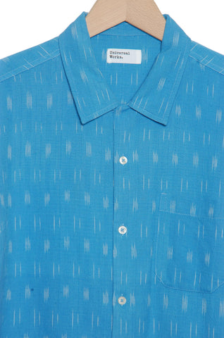 Universal Works 20156 Ikat Lines Road Shirt sky blue
