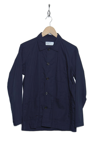 Universal Works 20653 Poplin Bakers Overshirt navy