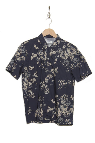 Universal Works 20673 Flower Poplin Road Shirt navy