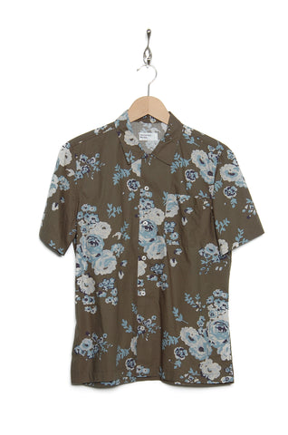 Universal Works 20673 Flower Poplin Road Shirt olive