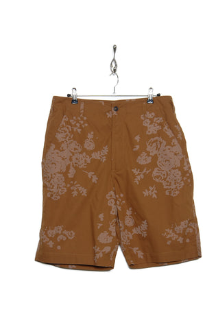 Universal Works 20168 Flower Print Poplin Loose Short khaki