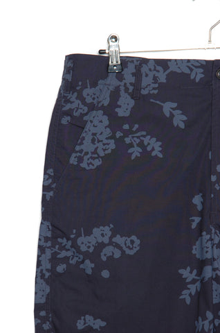 Universal Works 20168 Flower Print Poplin Loose Short navy