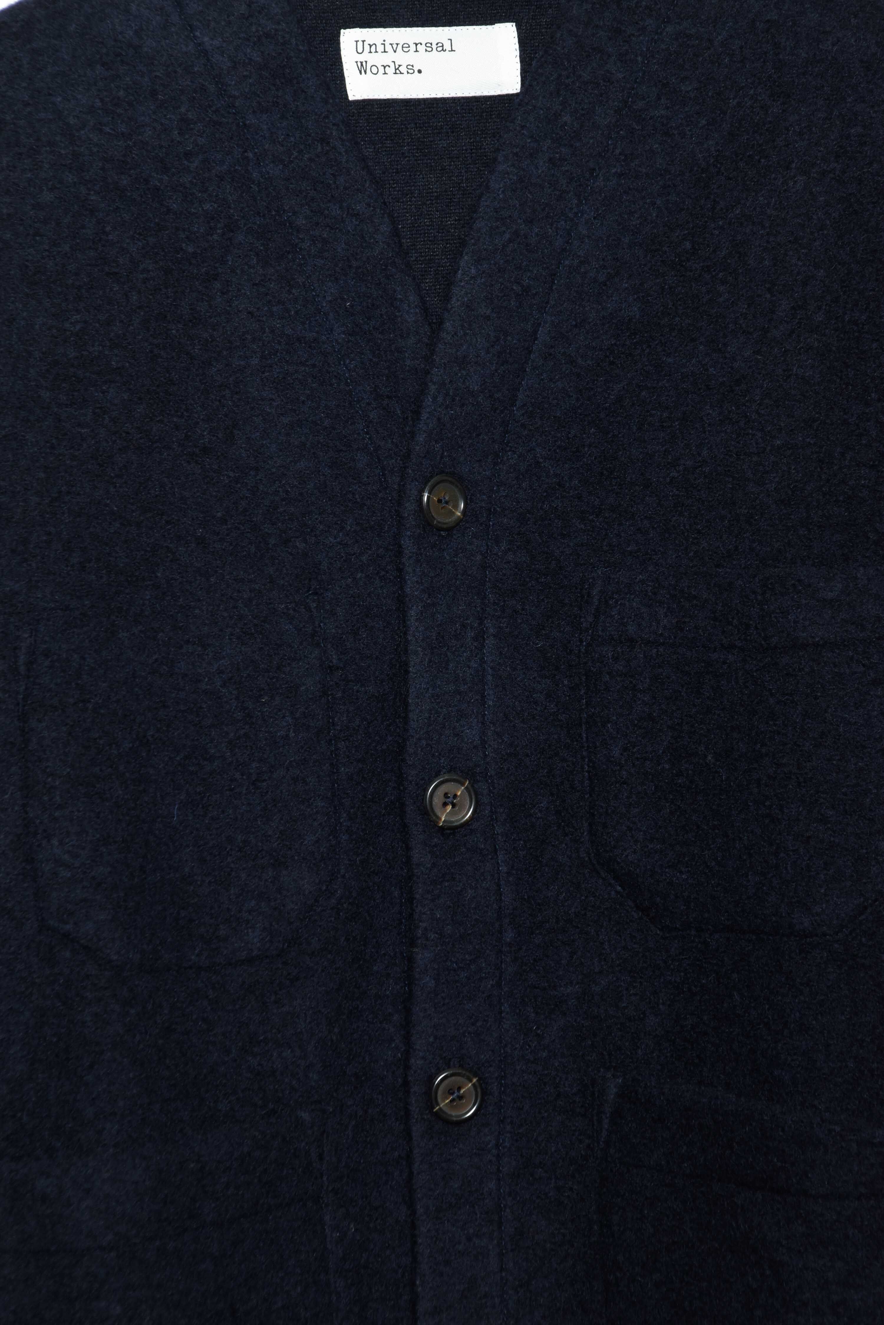 Cardigan Wool Fleece navy 23696