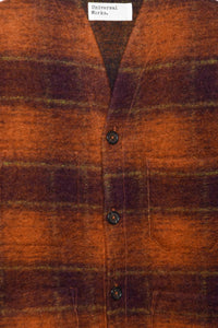 Cardigan Austin Wool Fleece 23698 orange