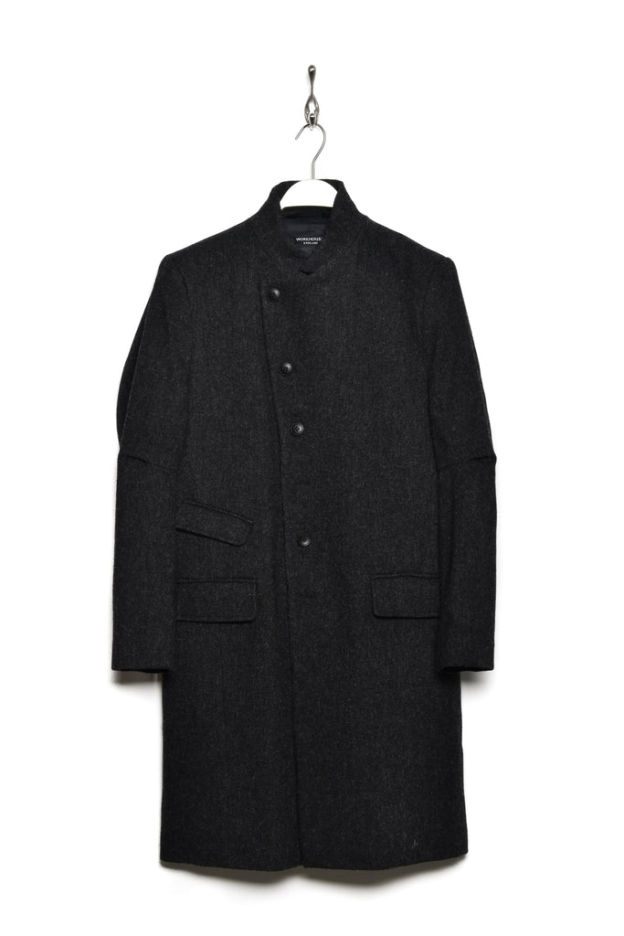 Workhouse AW19-010 East End Coat wool charcoal