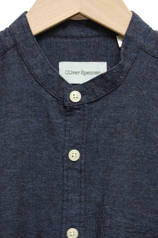 Oliver Spencer Grandad Shirt Abingdon navy OSMS126