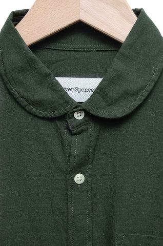 Oliver Spencer Eton Collar Shirt Cooper green OSMS69B