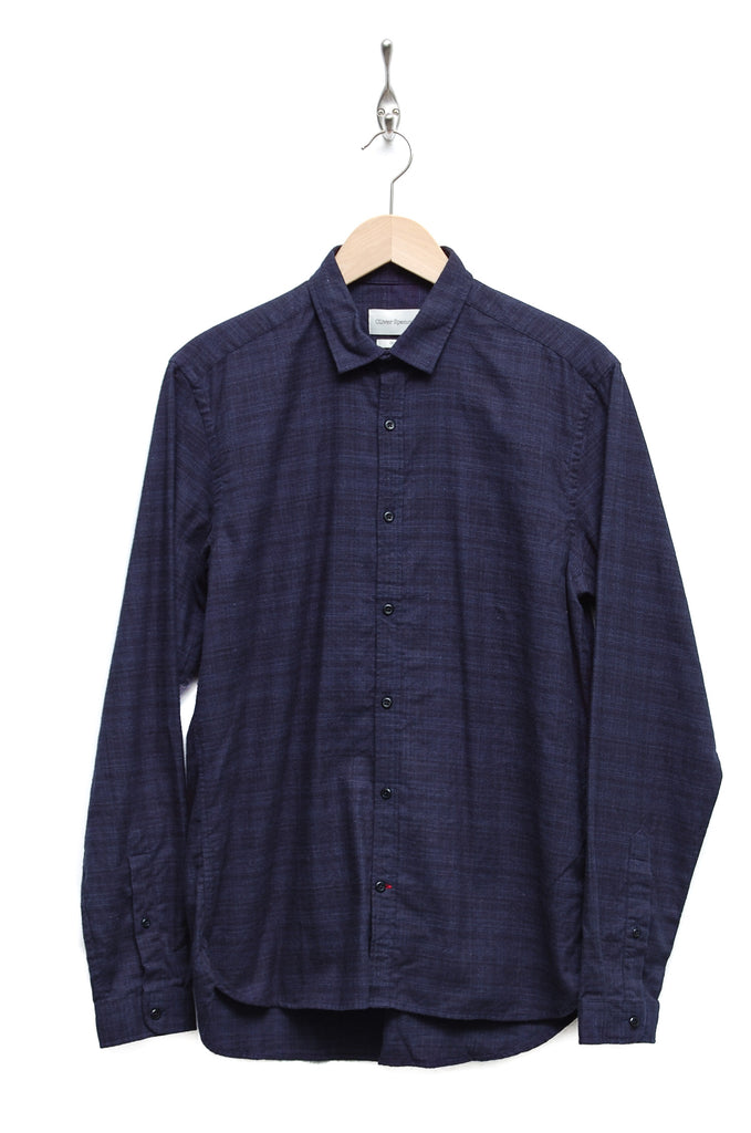 Oliver Spencer Clerkenwell Tab Shirt Clarence navy OSMS66A