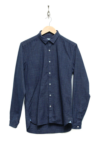 Oliver Spencer Clerkenwell Tab Shirt Dallin indigo multi OSMS66A