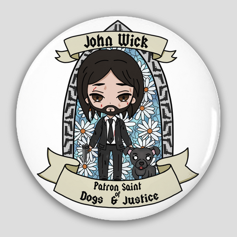 St. John Wick Pin-Back Buttons
