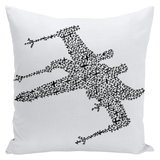 """X"" Wing & T/E fighter Throw Pillow"