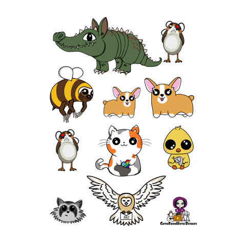 GFH Menagerie sticker sheet