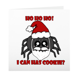 Santa Spider Greeting Cards