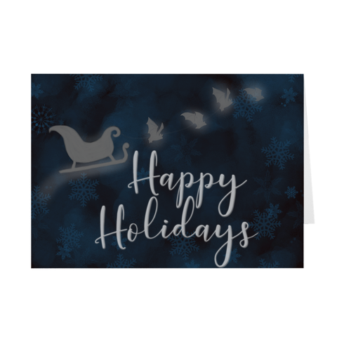 Sleigh Bats Greeting Cards
