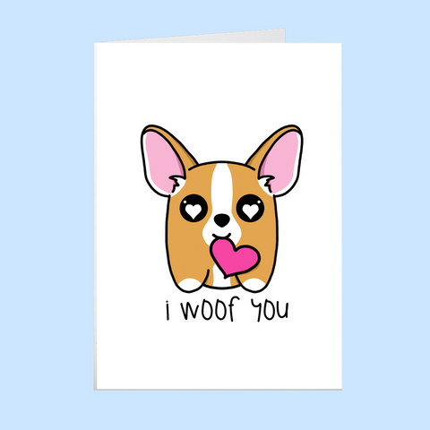 I Wuf You - Valentines Day card