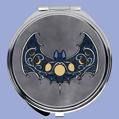 Moonphase Bat - Compact Mirror