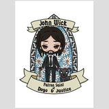 St. John Wick Kiss Cut Stickers
