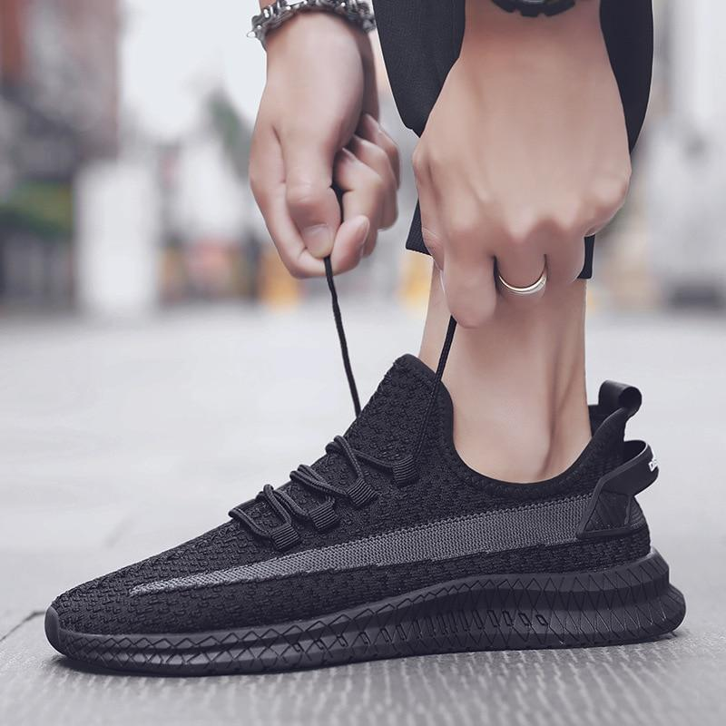 Male Breathable Comfortable Casual Shoes Fashion Men Canvas Shoes Lace up Wear-resistant Men Sneakers zapatillas deportiva