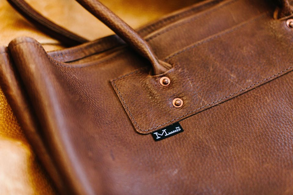 Marked Leather, made in Mineapolis. Leather Goods.