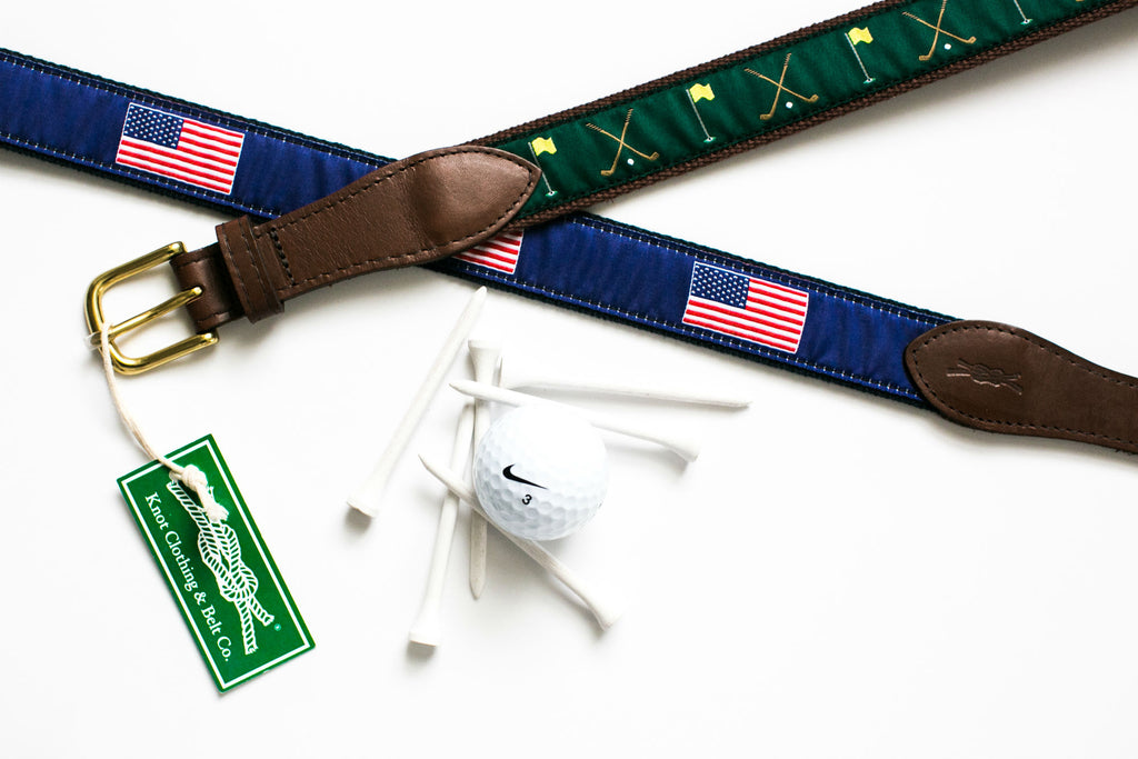 Preppy Golf Ribbon Belts for the Ryder Cup