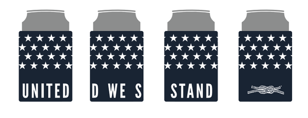 United We Stand 4th of July Koozie Made in America