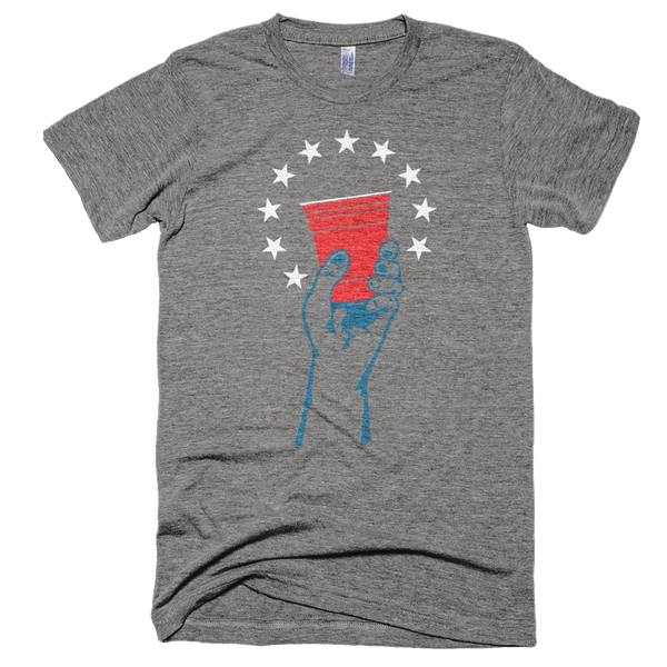 Raise your Glass to America 4th of July T-Shirt Made in America