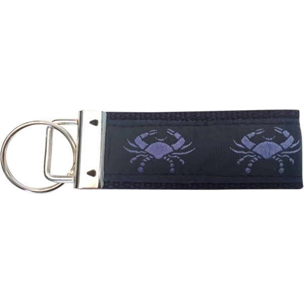 Blue Crabs Key Fob Made in America