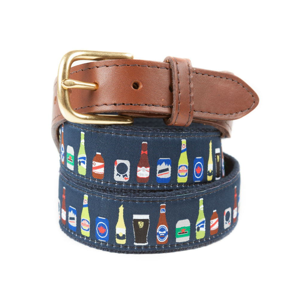 Ribbon Belt for Men with Beer