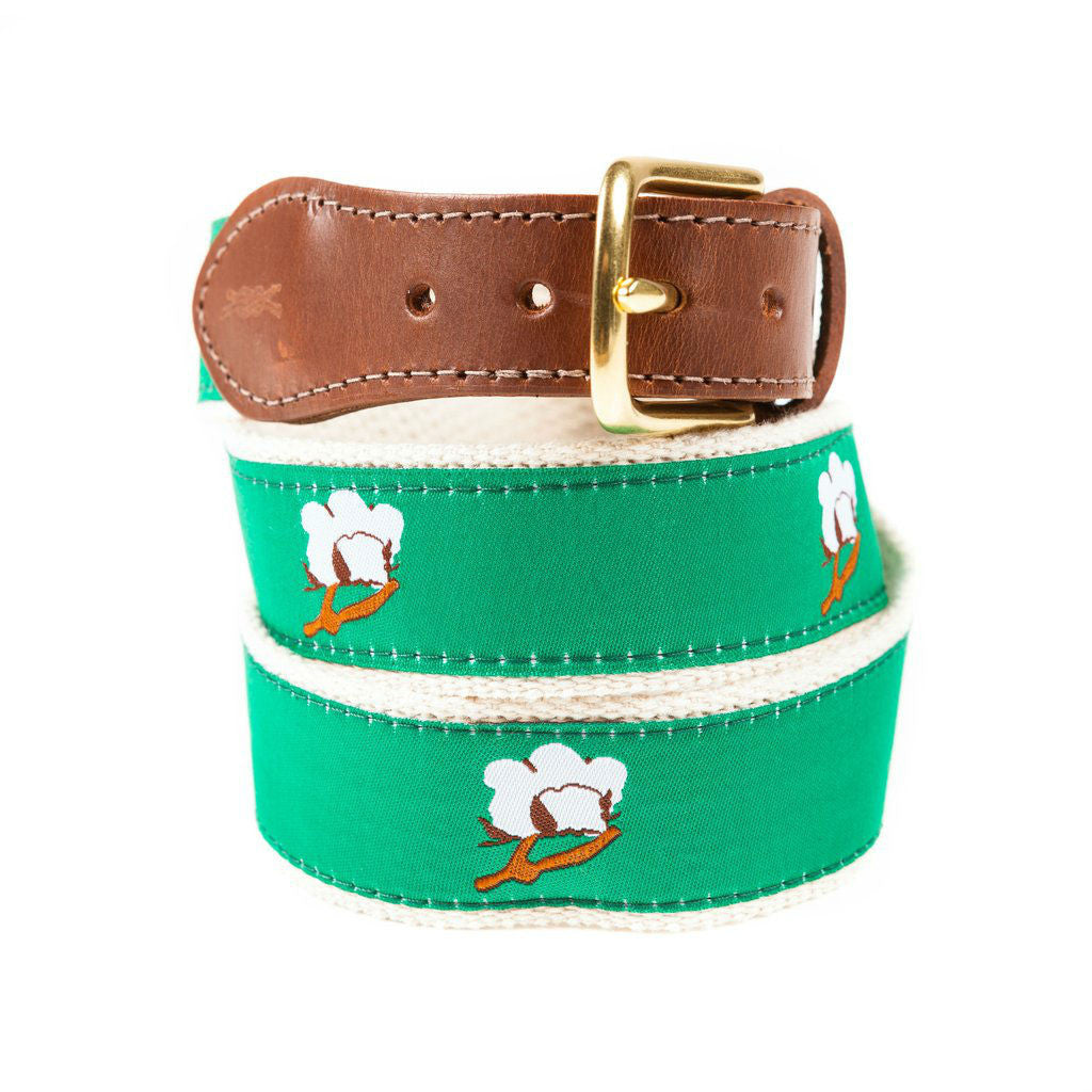 Cotton Boll Preppy Fabric Belt