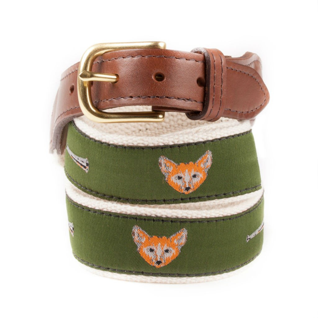 Fox and Horn Ribbon Hunting Belt