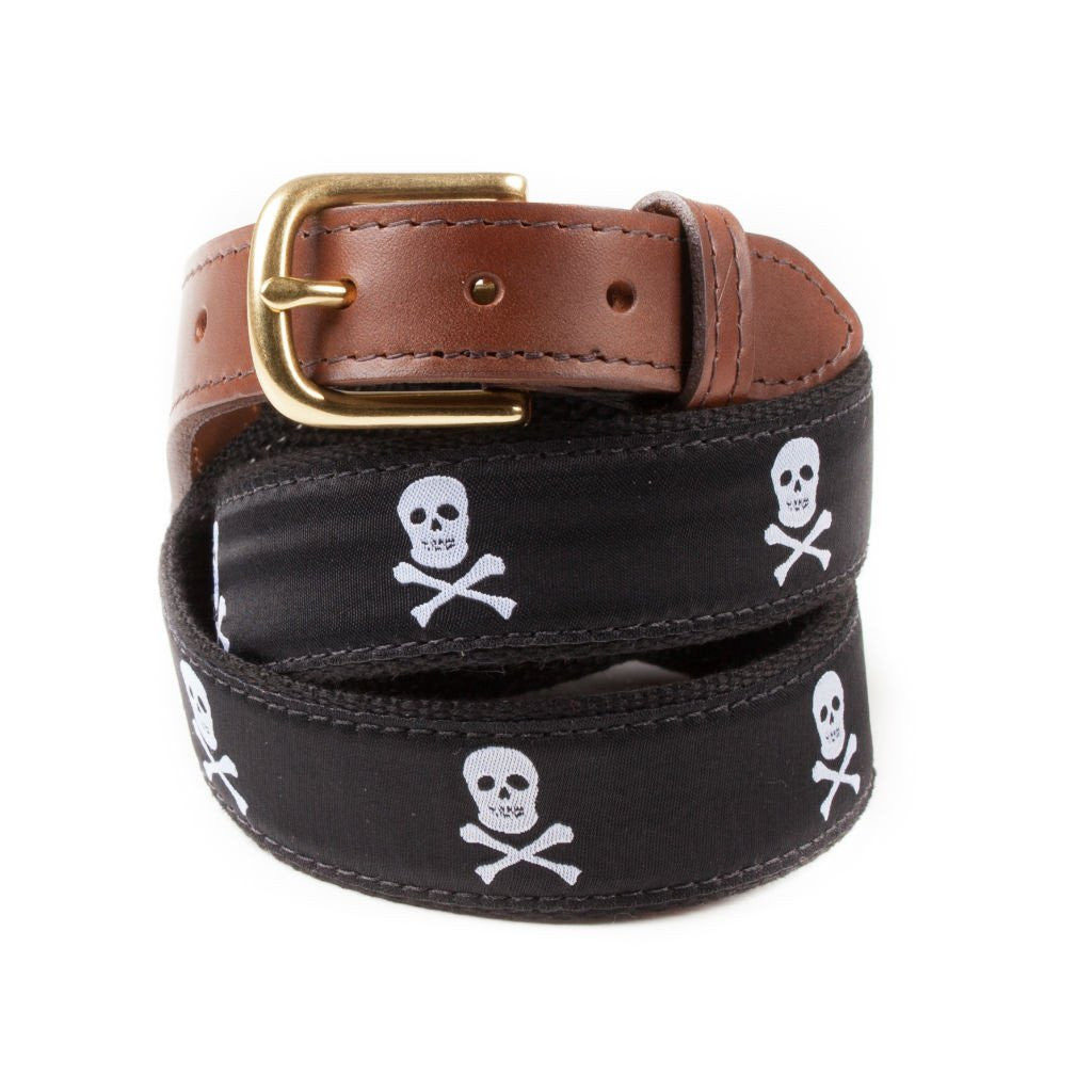 Jolly Rogers Ribbon Belt Made in USA