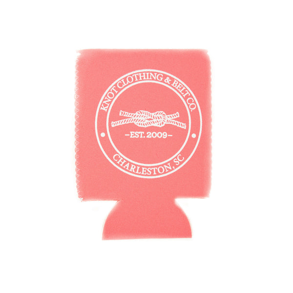 Do You Get Knotty? Koozie in Coral
