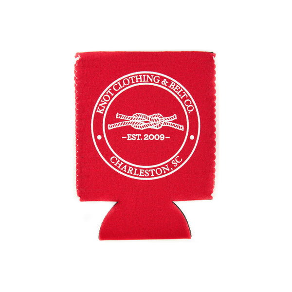 Knot Classic Koozie in Red
