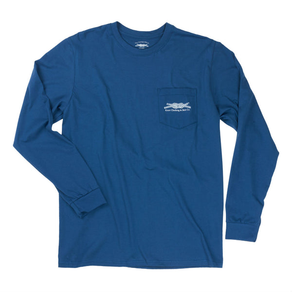Knot Classic Long Sleeve in Blue Front