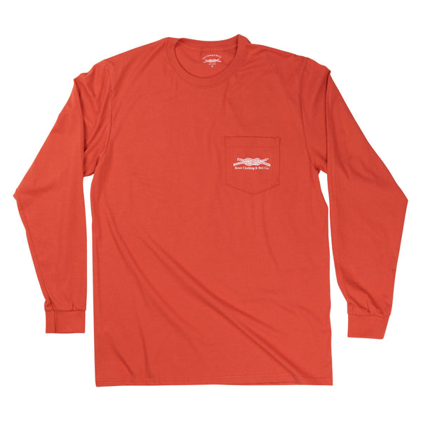Knot Classic Long Sleeve in Burnt Orange Front