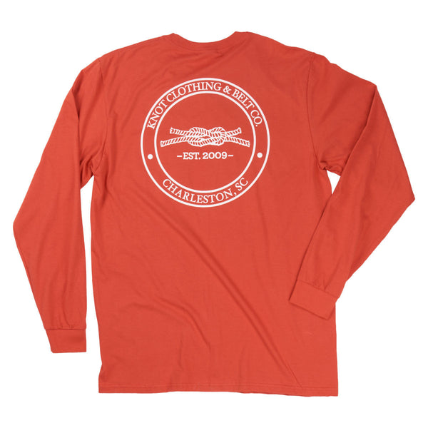 Knot Classic Long Sleeve in Burnt Orange Back
