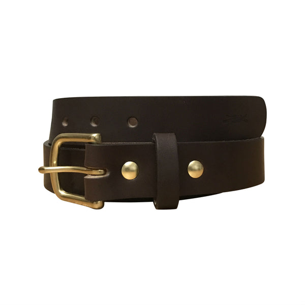 Leather Heritage Belt - Dark Brown