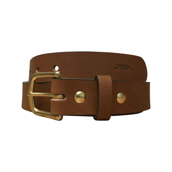 Leather Heritage Belt - Light Brown
