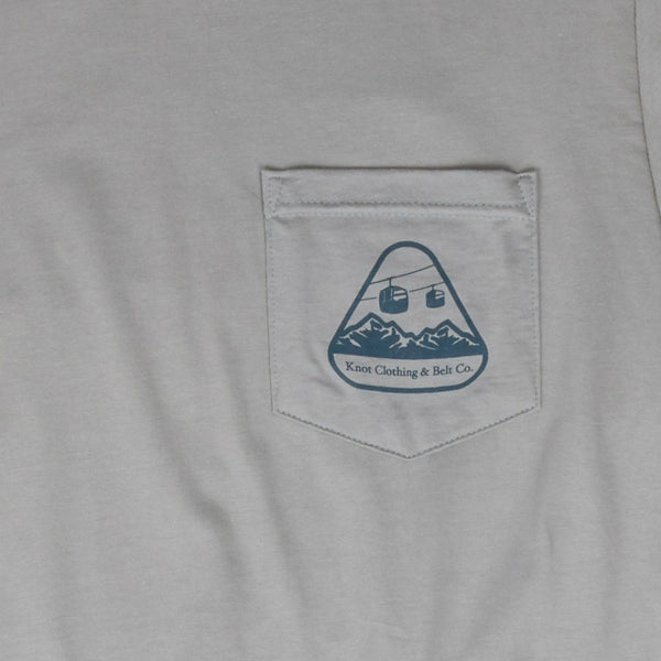 Knot at Work Ski Club T-Shirt Pocket