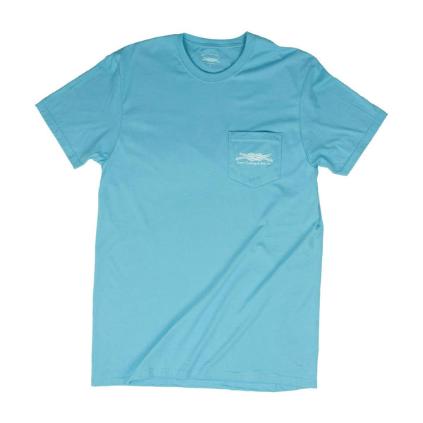 Man's Best Friends Pocket T-Shirt in Blue Front
