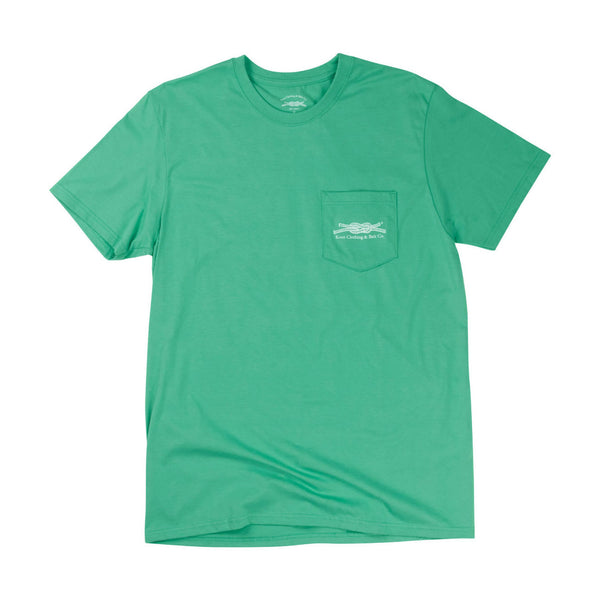 Man's Best Friend Pockets T-Shirt in Green Front