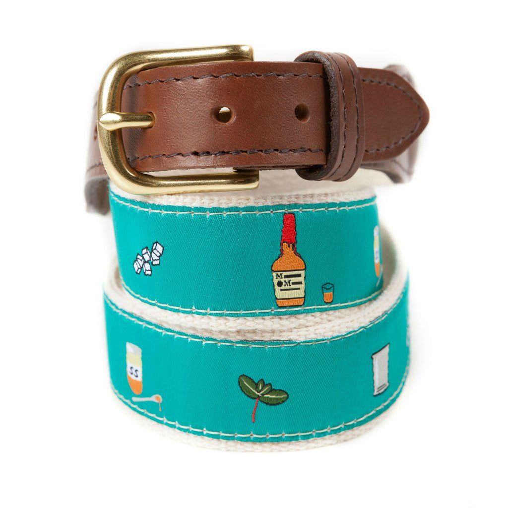 Mint Julep Ribbon Belt Made in America