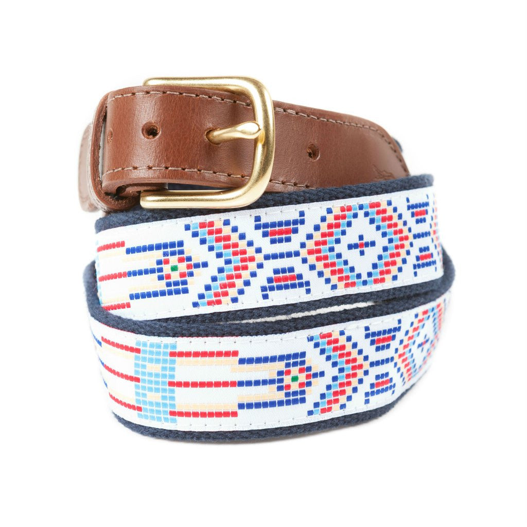 Native Print Ribbon Belt Made in USA
