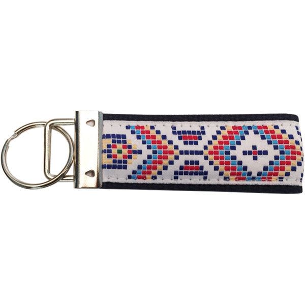 Native American Print Key Fob Made in America