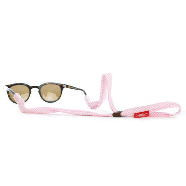 Pink Gingham Sunglass Retainers, Made in USA