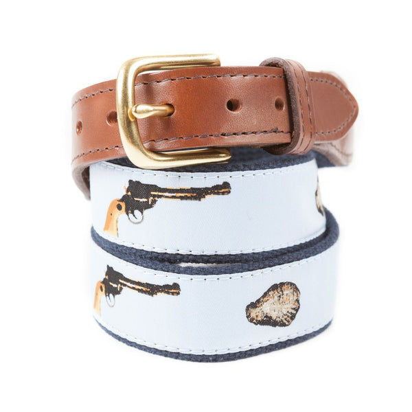 Oyster Shooter Ribbon Belt Made in America